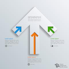 Infographics Vector Background #Arrow