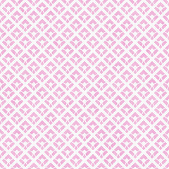 Pink and White Diagonal Squares Tiles Pattern Repeat Background