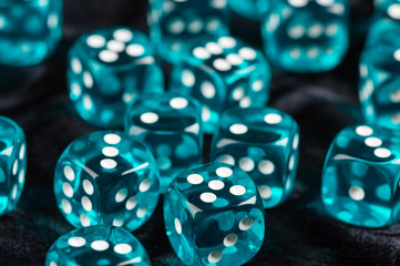 Blue dices