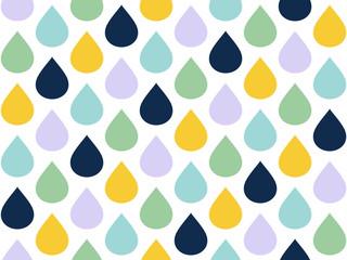 Raindrops Seamless Pattern