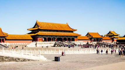 Time lapse of Forbidden City in Beijing, China