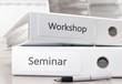 Leinwanddruck Bild - Seminar und Workshop Ordner