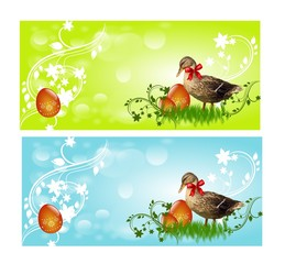 Easter Banners with ducks