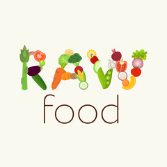 Raw Food vector illustration