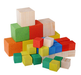 Wooden cubes constructor
