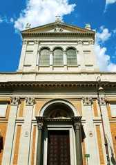 Little Sacro Cuore church in Rome near Termini station