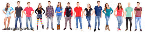 Leinwandbild Motiv teenagers