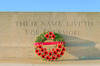 monument world war one with wreath of poppies - 75546985