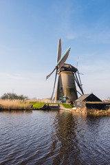 Windmill in Kinderdijk Netherlands