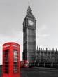 Obrazy na płótnie, fototapety, zdjęcia, fotoobrazy drukowane : Big Ben mit Telefon und Bus