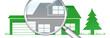 lb13 LupenBanner Lupe - hgb2 HausGarageBaum - grün1 - g2935