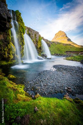 Leinwanddruck Bild Kirkjufell Mountain, Iceland, Snaefellsnes peninsula landscape