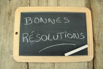 ardoise bonnes résolutions