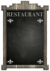 Blackboard with the word Restaurant