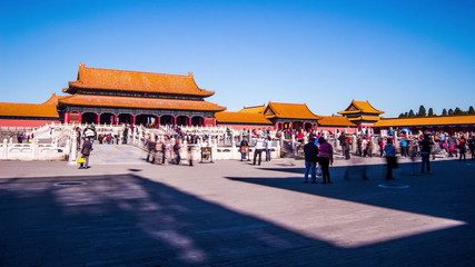 Motion Timelapse of Forbidden City in Beijing, China