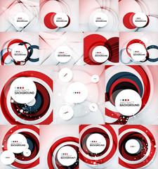 Color circles backgrounds set