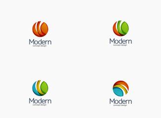 Modern cirlce company logo, clean glossy design