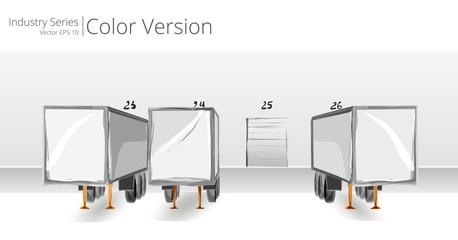 Vector illustration of Loading Dock, Color Series.