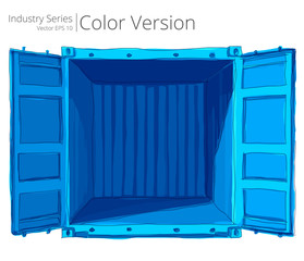 Vector illustration of empty container with good, Color Series.