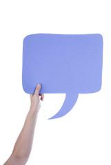 Lila Leere Sprechblase Für Textfreiraum