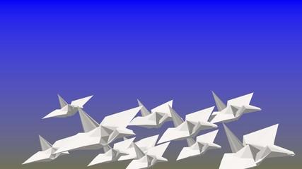 折り紙の鶴のアニメーション_2