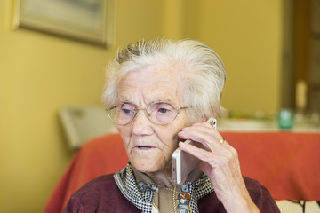 grandmother calling by phone