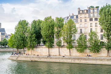 Paris cityscape along Seine river