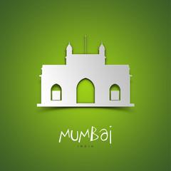 Mumbai, India. Green greeting card.