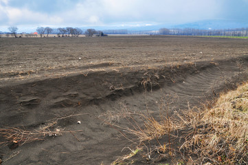 Field erosion land