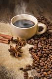caffè caldo e aromi