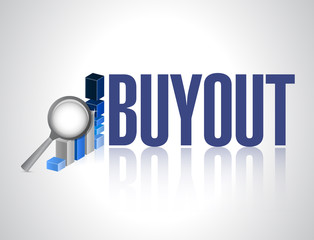 buyout business graph review sign