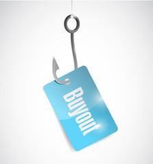 buyout hook concept illustration design