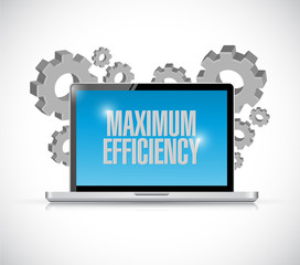 maximum efficiency computer sign