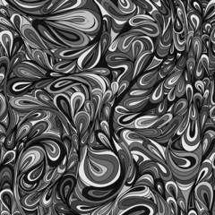 Monochrome striped and leaf background.