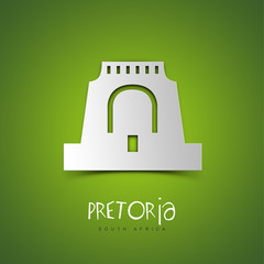 Pretoria, South Africa. Green greeting card.