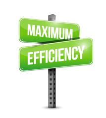 maximum efficiency street sign