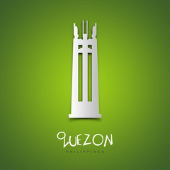 Quezon, Philippines. Green greeting card.