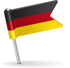 Germany pin icon flag. Vector illustration