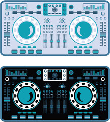 DJ Turntables Vector
