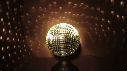 Disco Ball with Yellow Lights