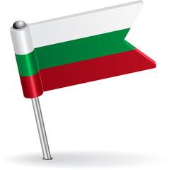 Bulgarian pin icon flag. Vector illustration