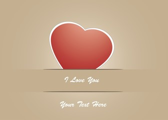 Stampa Biglietto Auguri I Love You
