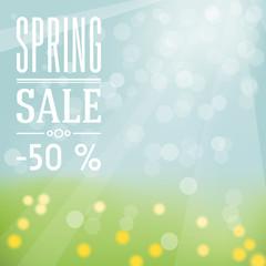 Spring sale label