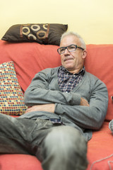 Man sitting on the couch