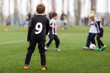 Soccer training for boys