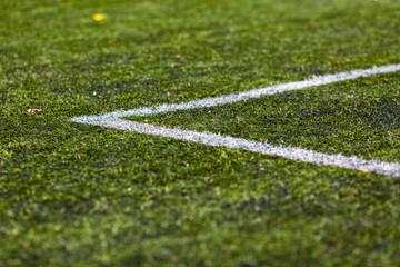 Line on soccer pitch