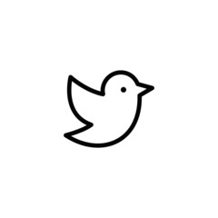 Bird / SocialMedia Trendy Thin Line Icon