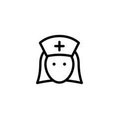 Nurse Trendy Thin Line Icon