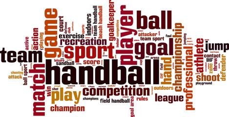 Handball word cloud concept. Vector illustration