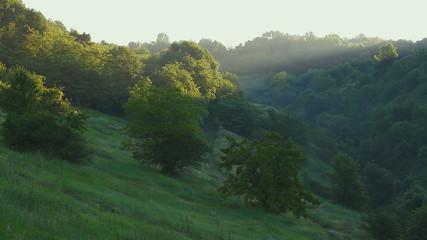 sunrise in the carpathians